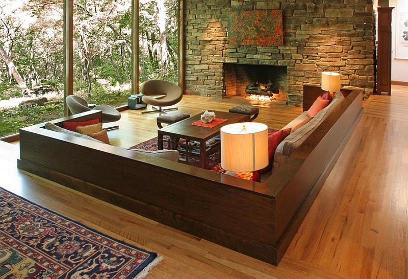 Stylish-sunken-living-room-helps-break-up-the-monotony-of-the-open-plan-interior